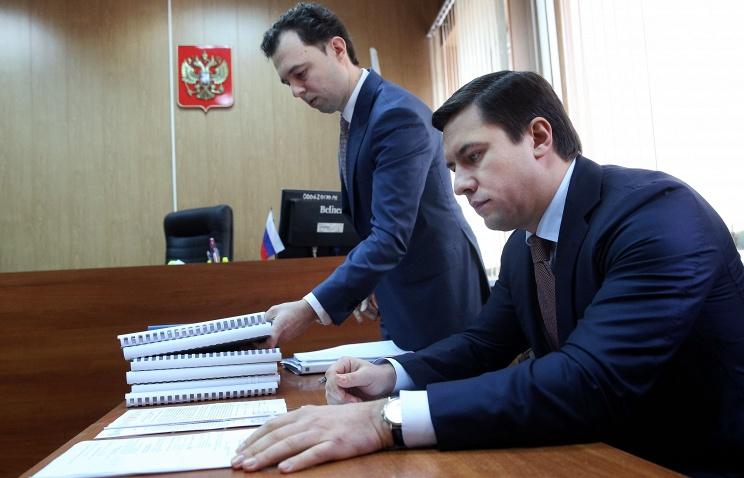 Адвокат Роман Щербинин и бывший следователь Павел Карпов в Мещанском суде